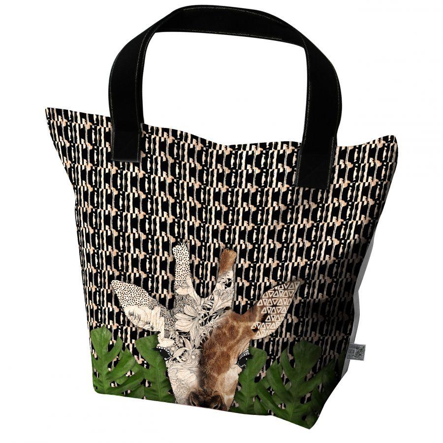 big tote bag girafe kirin d cor lie de l 39 art la d co. Black Bedroom Furniture Sets. Home Design Ideas