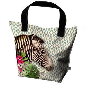 grand sac à main zebre de la marque laissez lucie faire