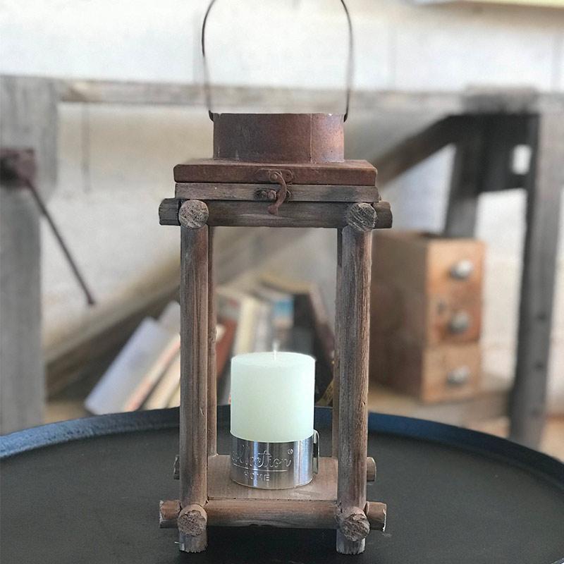 lanterne en bois pour bougie d cor lie de l 39 art la d co. Black Bedroom Furniture Sets. Home Design Ideas