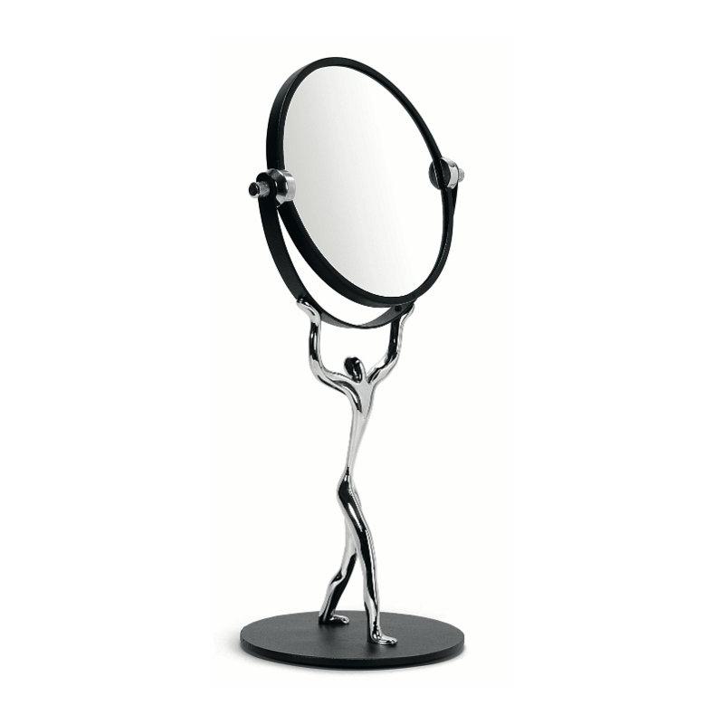 Miroir rond sur pied id mu kul goyal decorelie de l for Petit miroir rond sur pied