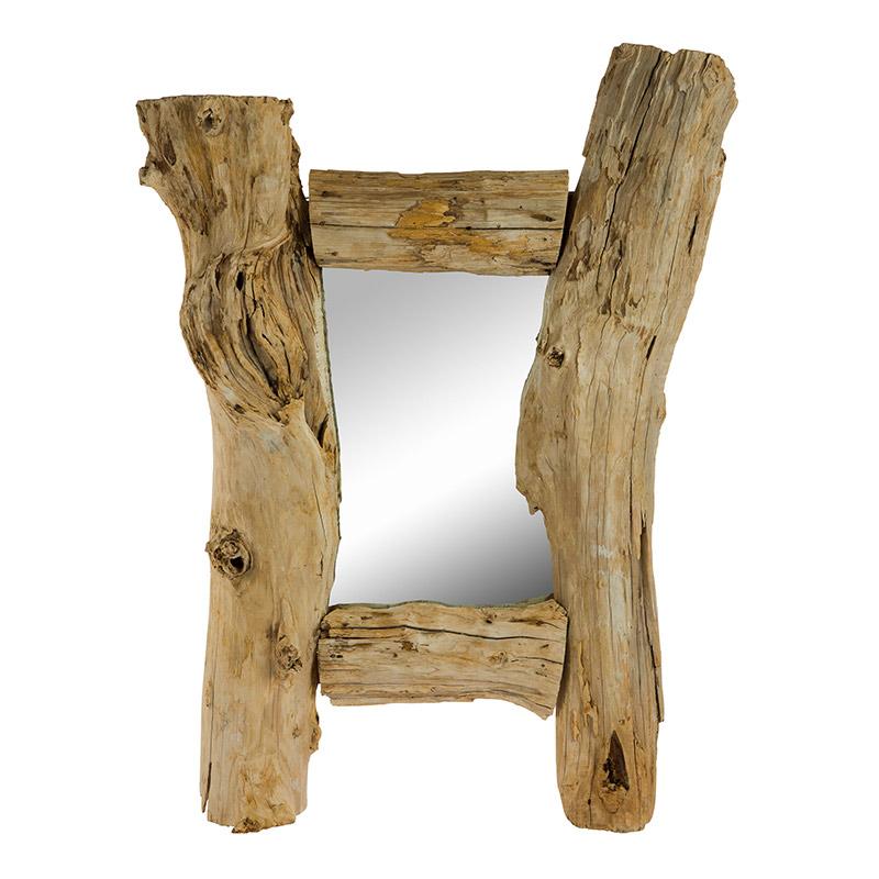 miroir en bois naturel decorelie de l 39 art la d co. Black Bedroom Furniture Sets. Home Design Ideas