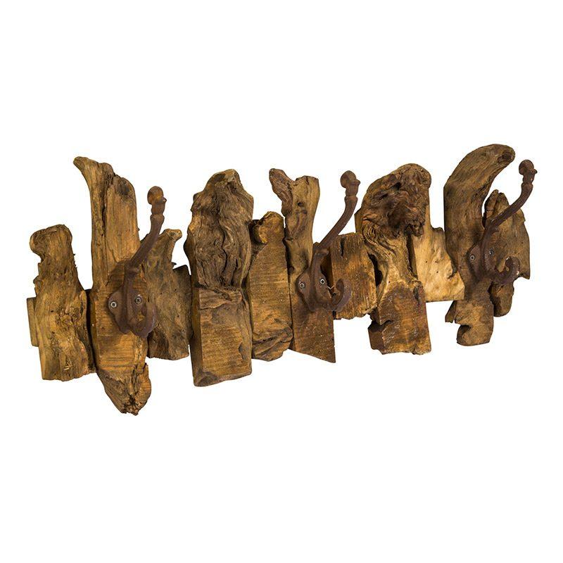 Patère bois exotique