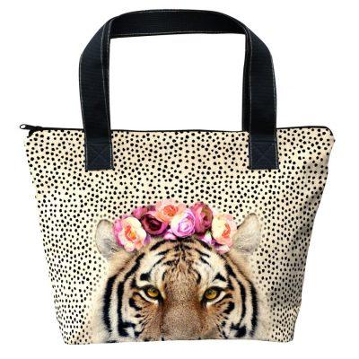 sac à main motif tigre de laissez lucie faire