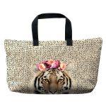 sac à main geant byako motif tigre de laissez lucie faire