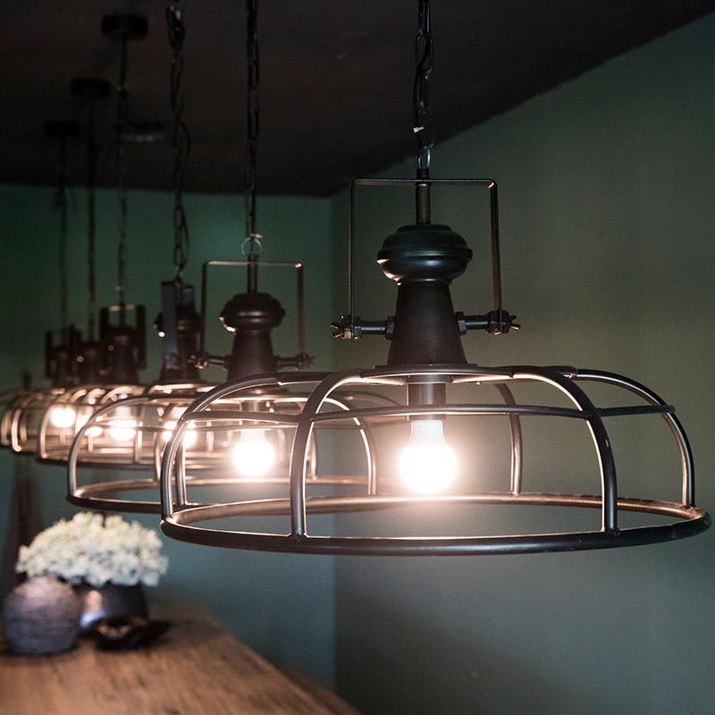 suspension ronde type industriel denver d cor lie de l 39 art la d co. Black Bedroom Furniture Sets. Home Design Ideas