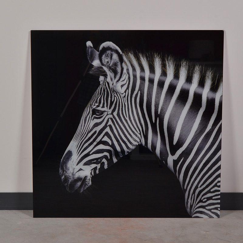 tableau animal zèbre en verre