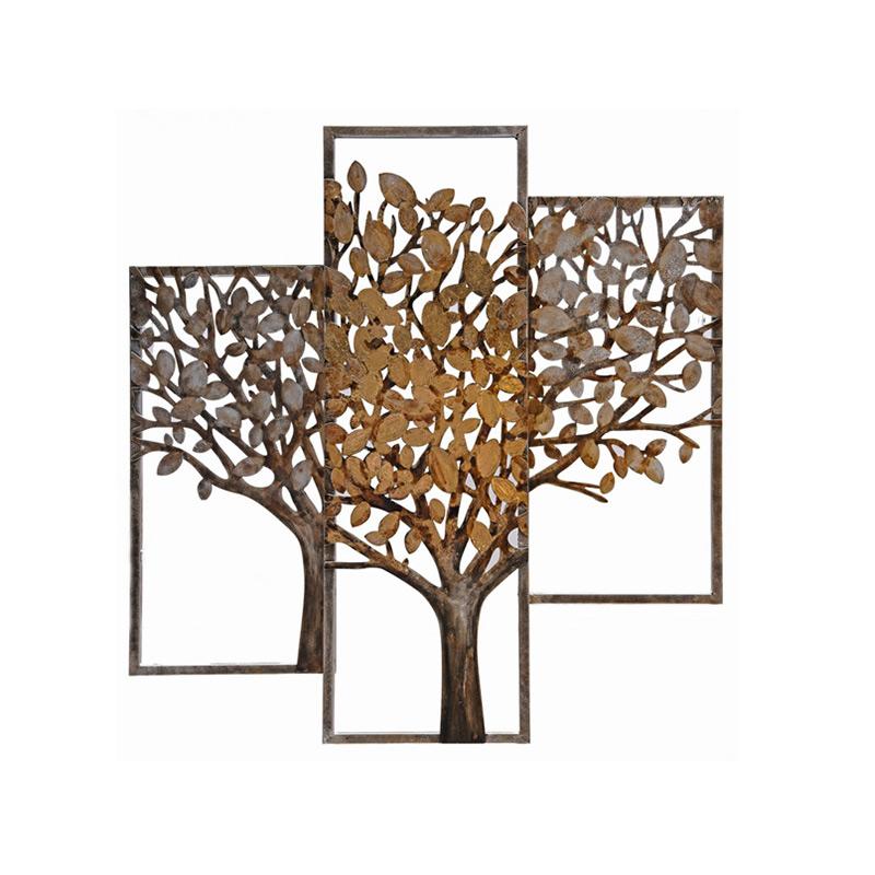 Tableau arbre triptyque en m tal d cor lie de l 39 art - Tableau deco en metal ...