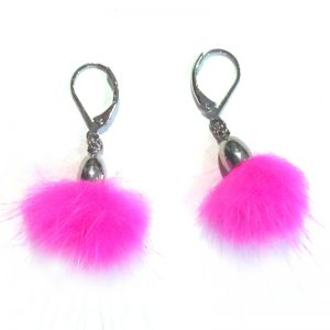 boucle-oreille-pampille-pompon-rose-ana-gold