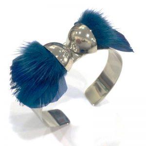 bracelet-manchette-plume-bleue-papillon-ana-gold