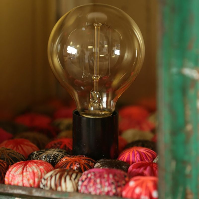 Lanterne Vintage métal et tissu du créateur Piti