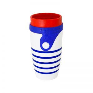 Mug Twizz rayé bleu isotherme et garanti étanche