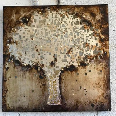 Tableau arbre en métal