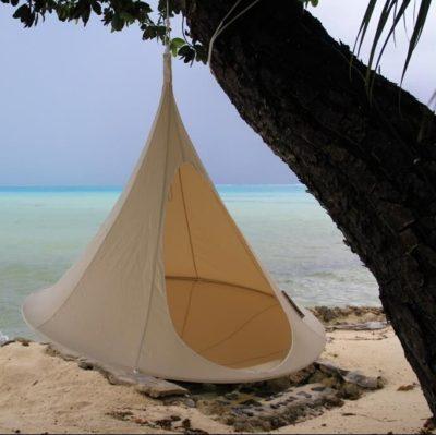 Tente suspendue Cacoon double beige