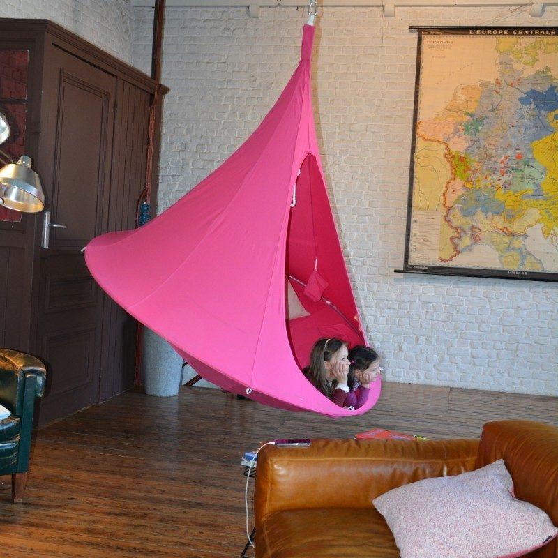 Tente suspendue Cacoon d'intérieur rose
