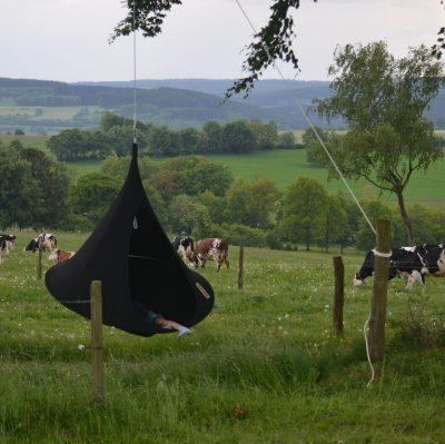 Tente suspendue Cacoon simple noire