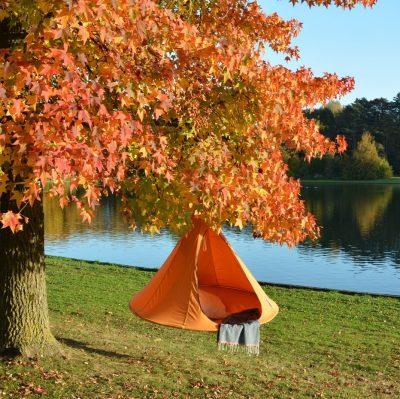 Tente suspendue Cacoon double orange