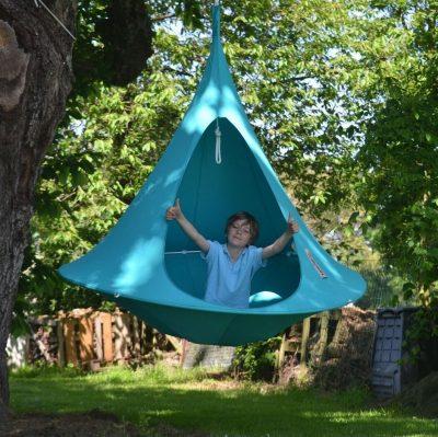 Tente suspendue Cacoon bleue ciel