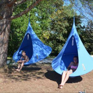 Tente suspendue Cacoon simple bleue