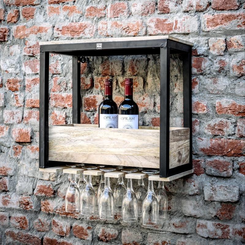 porte bouteilles verres mural d cor lie de l 39 art la d co. Black Bedroom Furniture Sets. Home Design Ideas