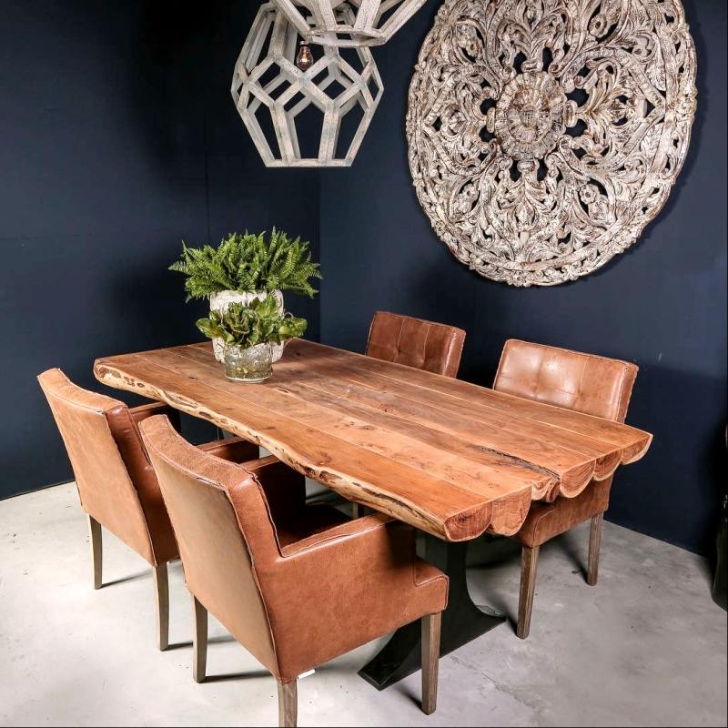 Table Acacia Pour Salle A Manger Decorelie De L Art A La Deco