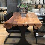 Table de salle à manger en rondin de bois