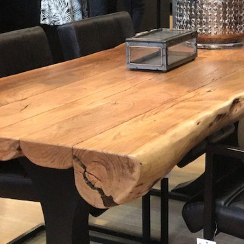 Table de salle à manger rondin de bois