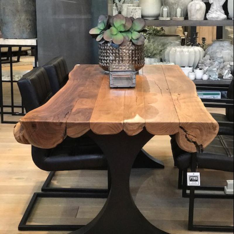 Table De Salle A Manger Acacia Wood Natural 200