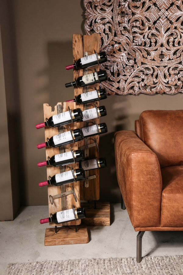 porte bouteille bois decorelie de l 39 art la d co. Black Bedroom Furniture Sets. Home Design Ideas