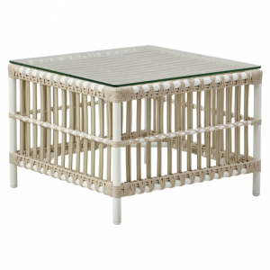 Table basse de jardin en rotin naturel Donatello