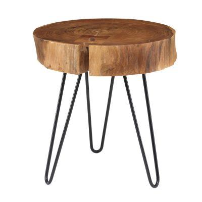 Bout de canapé en rondin bois