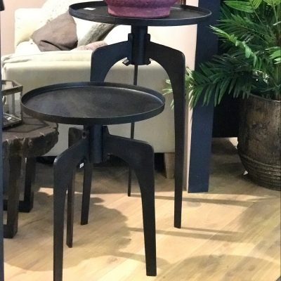 Table d'appoint en métal type industriel