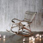 Rocking chair ou fauteuil à bascule en Rotin de qualité supérieure