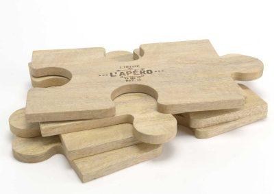 Plateau puzzle pour apéritif dînatoire.