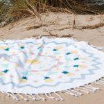 Serviette de plage ronde pour enfant