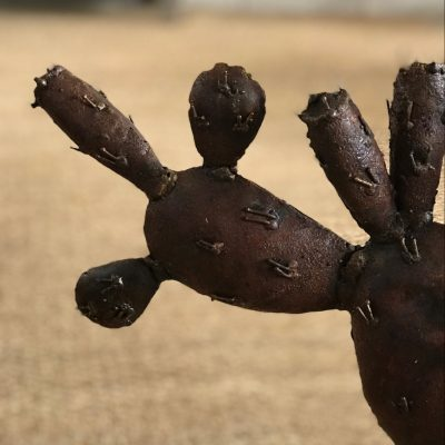 Cactus en métal recyclés fait à la main