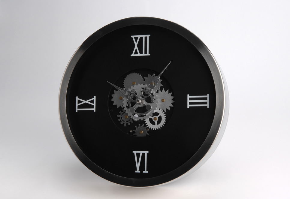 Pendule moderne noire mécanisme