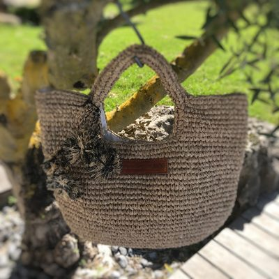 Sac panier Fashion en raphia naturel