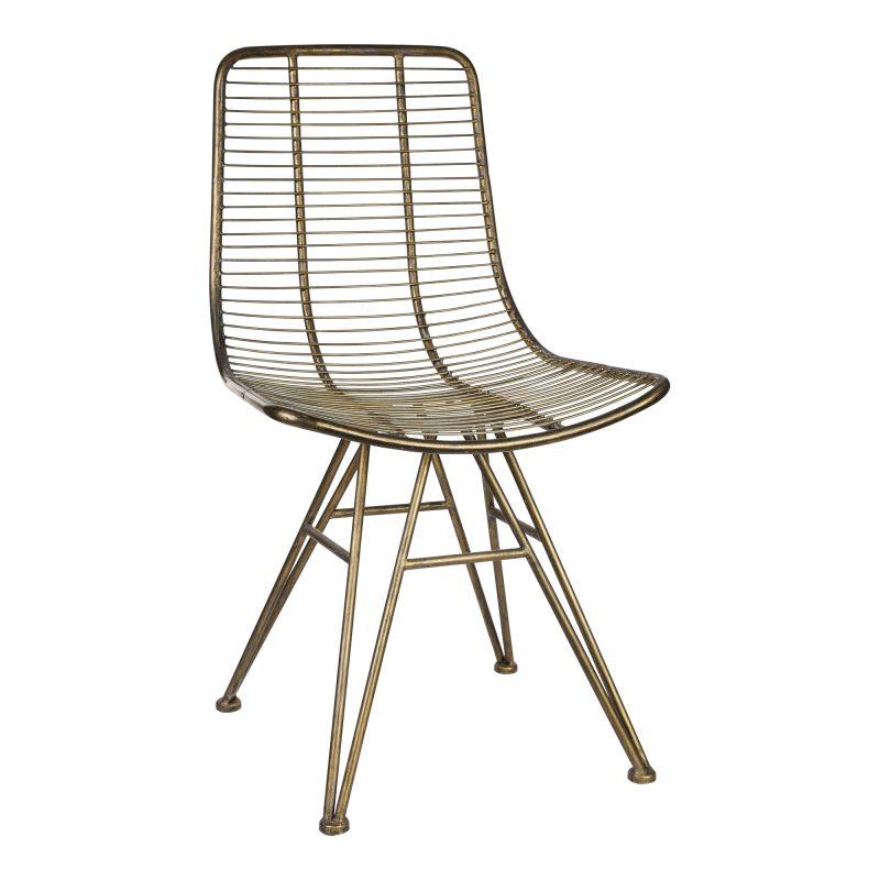 Chaise en métal de couleur bronze Art Déco !