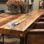 Table bois et métal Blade