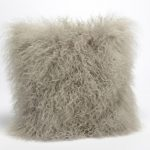 Coussin carré en laine d'agneau
