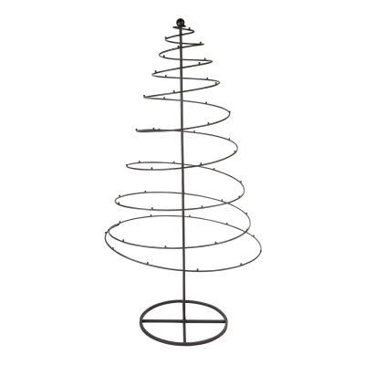 Sapin de Noël en métal de forme spirale