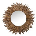 Miroir en bambou rond