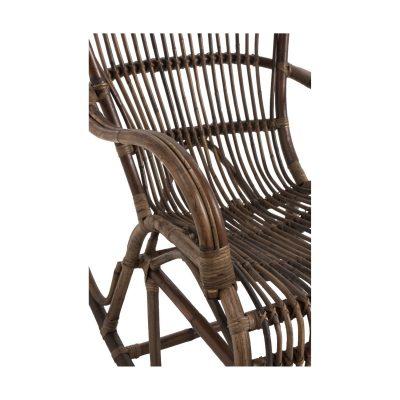 Rocking-chair en rotin marron