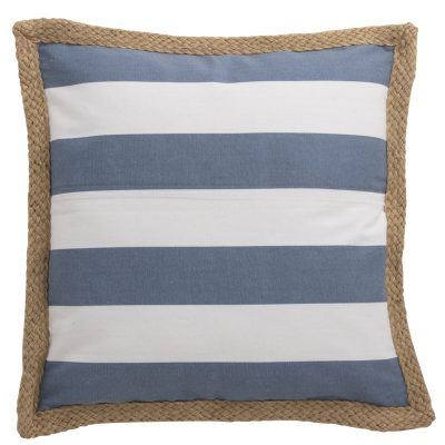 Coussin Rayures bleues et blanches