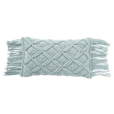 coussin couleur bleu ciel en coton