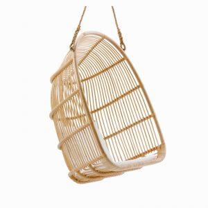 fauteuil suspendu rotin naturel