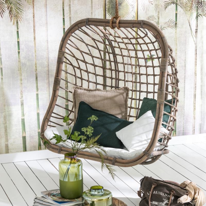 fauteuil suspendu 2 places en rotin decorelie de l 39 art. Black Bedroom Furniture Sets. Home Design Ideas
