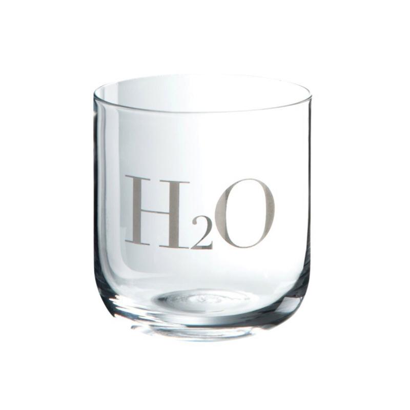 Verre à Eau H2O sérigraphié Argent