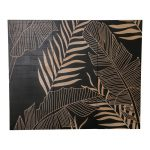 Tableau en bois feuilles de palmier