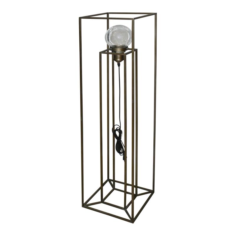Lampadaire en métal carré